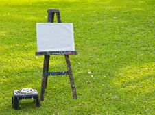 The Painting Board On Green Grass Stock Images