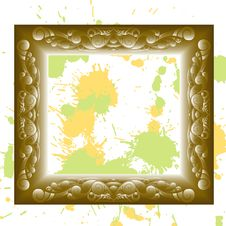 Free Golden Vintage Frame Royalty Free Stock Image - 17551696