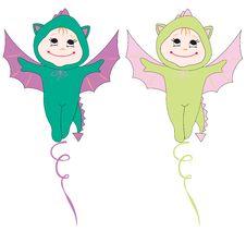 Free Cute Dragons Royalty Free Stock Image - 17552746