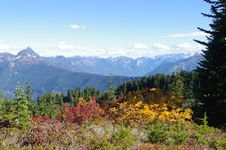 Mountain Panorama In The Fall Royalty Free Stock Photo