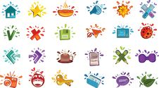 Free Colorful Drops Icons Stock Photography - 17553062