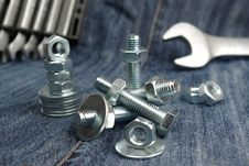 Free Metal Bolts, Nuts And Washers Stock Photography - 17553112