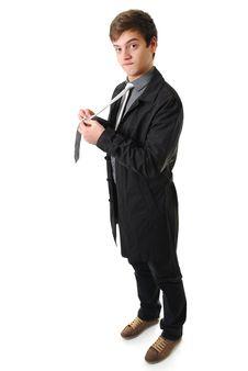Free Young Man Adjusting Tie Stock Photos - 17553443