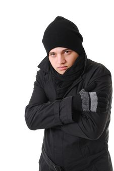 Free Freezing Man With Winter Clothing Royalty Free Stock Photos - 17553448