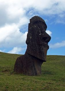 Free Moai On Easter Island Royalty Free Stock Image - 17553706