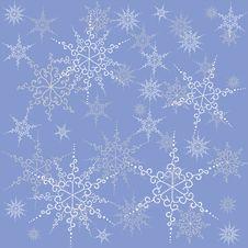 Free Seamless  Snowflakes. Stock Images - 17554134