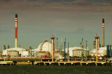 Part Of Big Refinery Complex. Stock Photos