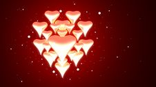 Free Hearts Glowing Royalty Free Stock Photo - 17554195