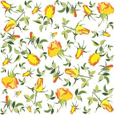 Free Retro Floral Background. Rose. Royalty Free Stock Photography - 17554347