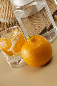 Free Oranges And Glass Cups Royalty Free Stock Photos - 17554398