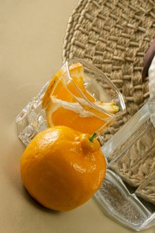 Free Oranges And Glass Cups Royalty Free Stock Photo - 17554405
