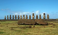 Free Moai On Easter Island Royalty Free Stock Image - 17554676