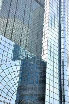 Glass Wall Of Modern Buildings Stock Photography