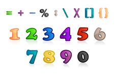 Free Set Of Numbers And Characters Stock Photos - 17554903
