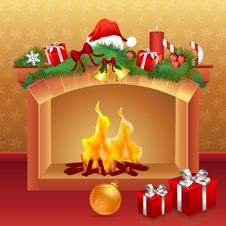 Free Christmas Card With Gifts Royalty Free Stock Photos - 17554918