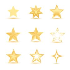 Free Vector Stars Royalty Free Stock Images - 17554959