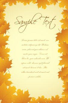 Free Autumn Card Royalty Free Stock Photo - 17555025