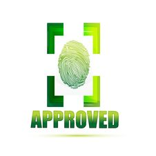 Free Approved Sign With Thumb Royalty Free Stock Images - 17555099