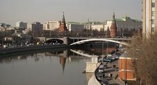 Free Moscow River And Kremlin Towers Stock Images - 17555164