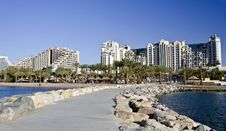 Free View On The Beach And Resort Hotels In Eilat City Stock Photography - 17555382