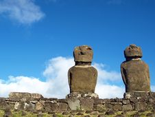 Free Moai On Easter Island Royalty Free Stock Image - 17555866