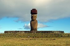 Free Moai On Easter Island Stock Images - 17555884