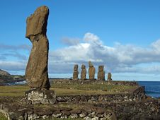 Free Moai Of Ahu Tahai Stock Photography - 17555902