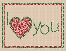 Free I Love You Card Royalty Free Stock Photo - 17556235