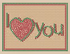 Free I Love You Design Royalty Free Stock Image - 17556236