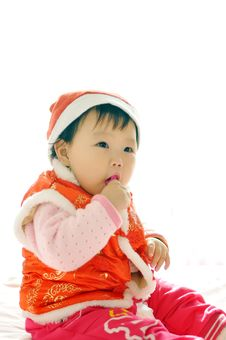 Free A Asian Baby Girl Royalty Free Stock Images - 17556419