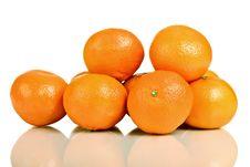 Group Of Mandarin Fruit Stock Image
