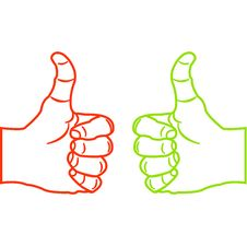 Free Thumbs Up Sketch Stock Images - 17557184