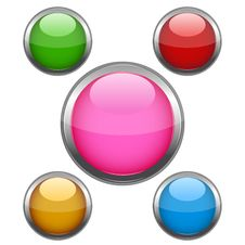Free Multi Colored Buttons Royalty Free Stock Images - 17557189
