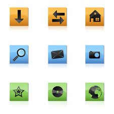 Free Web Icons Stock Photo - 17557220
