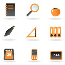 Study Icons Stock Photos