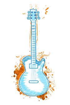 Free Guitar Icon Royalty Free Stock Images - 17557299