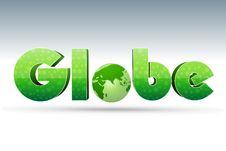 Free Globe Text With Icon Stock Images - 17557334