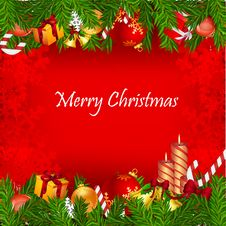Free Colorful  Christmas Card Royalty Free Stock Photos - 17557408