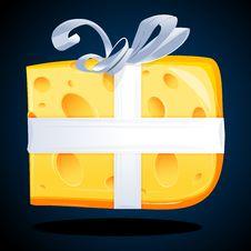 Cheese Present Stock Photo