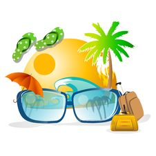 Free Summer Card Royalty Free Stock Image - 17557436