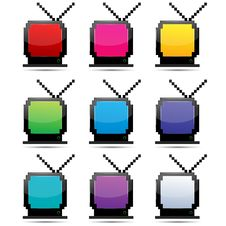 Free Colorful Tv Sets Royalty Free Stock Photography - 17557517