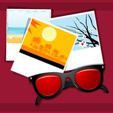 Free Summer Eye Wear With Natural  Pictures Stock Image - 17557541