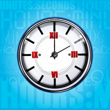 Free Clock With Texture Background Royalty Free Stock Image - 17557646