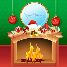 Free Cheerful Merry Christmas Card Royalty Free Stock Photos - 17557678
