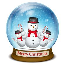 Free Christmas Ball With Snowman Stock Photo - 17557690