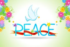 Free Floral Peace Card Royalty Free Stock Photo - 17557715