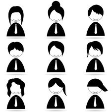Free Different Human Icons Royalty Free Stock Photo - 17557755