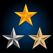 Free Abstract  Stars Royalty Free Stock Photos - 17557838