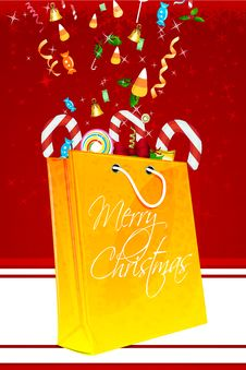 Free Merry Christmas Card With Gifts Royalty Free Stock Photos - 17557848