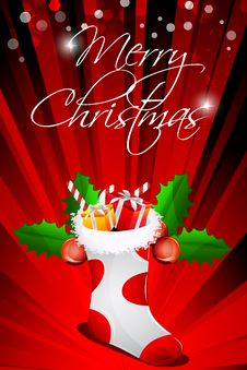 Free Abstract Merry Christmas Card Royalty Free Stock Images - 17557859